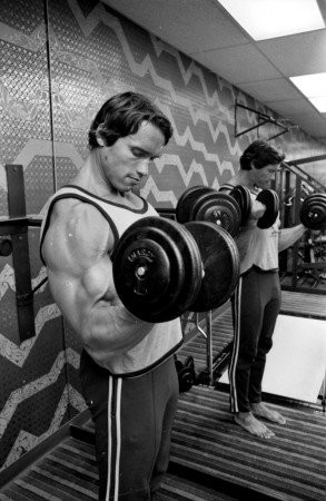 During the 1975 filming of 'Stay Hungry' in Birmingham, Johnny Peebles helped build a weightlifting set for star Arnold Schwarzenegger.