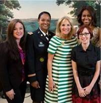 The Lifetime TV special features First Lady Michelle Obama and Jill Biden. In addition to Kathleen Causey, it also highlights Iraq War veteran Rolona Brown, a company commander at Fort Eustis, Va.; and licensed practical nurse Jennifer Madden, who served in Afghanistan and suffered post-traumatic stress from her wartime experiences. (Lifetime TV)