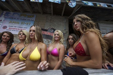 The top 10 women from the previous year competed in the Labor Day Weekend Miss Flora-Bama 2015 Bikini Contest at the Flora-Bama Lounge and Package on Saturday, September 5, 2015. (Brian Kelly/bkelly@al.com)