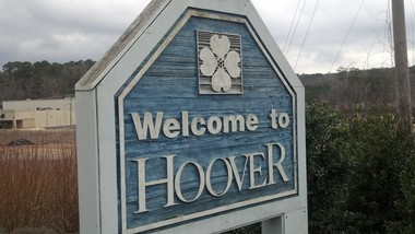 This sign welcomes drivers entering Hoover, Ala., on U.S. 31 South. (Jon Anderson/janderson@al.com)