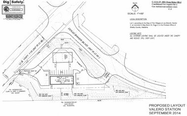 This was the proposed layout for a Valero gas station at the corner of Alabama 119 and Doug Baker Boulevard in Hoover, Ala. (Layout provided by city of Hoover)