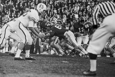 For 41 years, from 1948 to 1988, Alabama and Auburn met on an annual basis at Legion Field before the game moved to the respective campuses. This is a play from the 1964 Iron Bowl, which was the first one that was televised. (Birmingham News file/Robert Adams)