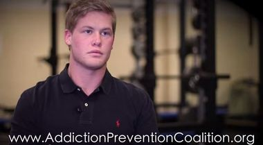 A still from the Addiction Prevention Coalition's YouTube video featuring Brad Blount.