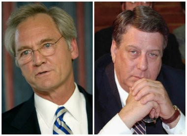 Former Alabama attorneys general Don Siegelman, at left, and Jimmy Evans