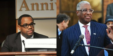 The Birmingham City Council on Tuesday, Sept. 8, passed an ordinance stopping new spending on current capital projects as well as any new projects until the council receives regular updates on the status of specific projects and their anticipated completion date. Mayor William Bell, right, and Council President Johnathan Austin, left (File photos)