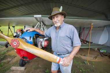 Drennen Baggett Jr. spends time at the air field in Empire, Ala. (Photo by Hanna Curlette)