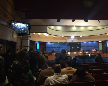 At 10:30 a.m., an hour after the Tuesday, Nov. 24, Birmingham City Council meeting was scheduled to begin, President Pro Tem Jay Roberson announced to a sizable crowd of citizens and stakeholders that it was canceled because there weren't enough members present to vote on items. (Kelsey Stein   kstein@al.com)