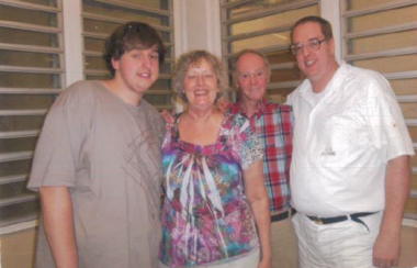 Ronald Smith, far right, and his son, mother, and father.