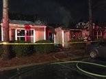 Cahaba Valley fire and Birmingham fire put out large apartment fire at a complex off Highway 280 on Monday, Jan. 6, 2017.