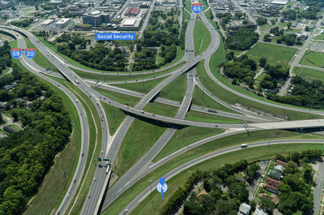 BEFORE - Interstate 59/20 and I-65 Interchange South (ALDOT)