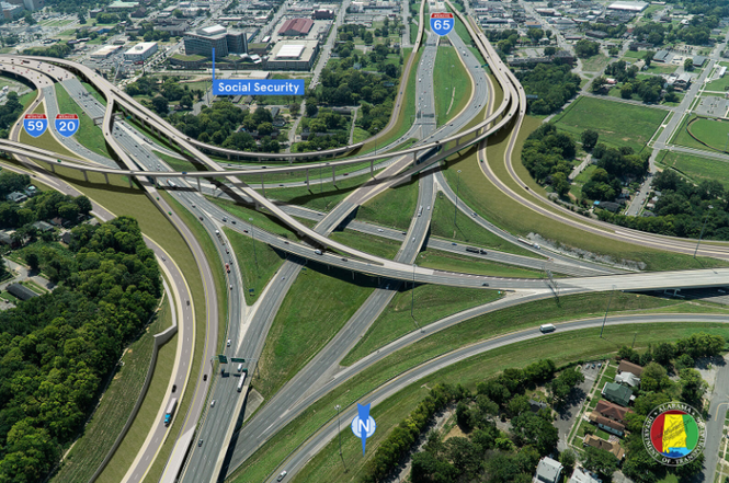 AFTER -- Interstate 59/20 and I-65 Interchange South