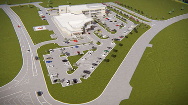 A rendering of a UAB emergency department and medical office building to be built in Gardendale. (UAB)