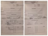 Requisition forms for $18,000, $2,000, respectively