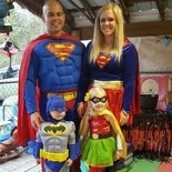 John Barbosa (upper left) and his wife (upper right) celebrate Halloween 2017 with their two kids Parker (lower left), who is 3, and Ava (bottom right), who is 5.