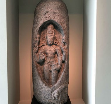 Lingodhbhavamurti (Shiva Manifesting within the Linga of Flames) sculpture. (Birmingham Museum of Art)