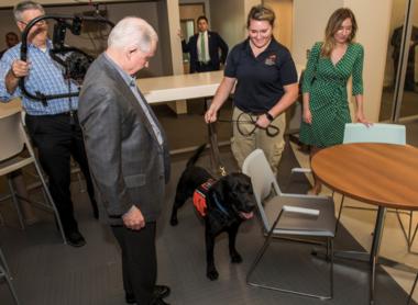 AG Jeff Sessions visit's Auburn University's CaninePerformance Sciencesprogram on Friday, Sept. 21 (Auburn University)