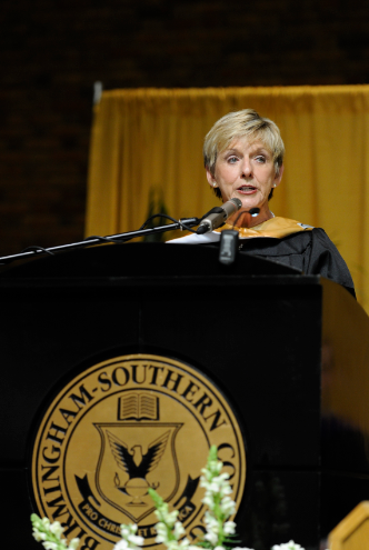Linda Flaherty-Goldsmith has returned to Birmingham-Southern College. She was named president on June 10, 2016.