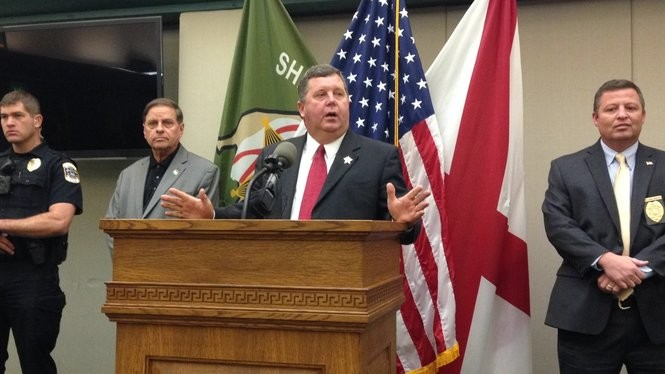 Etowah County Sheriff Todd Entrekin speaks during a news conference Wednesday, Feb. 1, 2017. (William Thornton | wthornton@al.com)