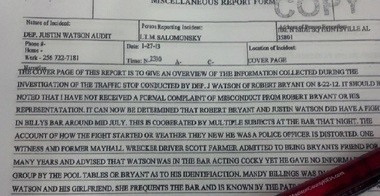 Reports by Lt. Mike Salomonsky. Written over December of 2012 and January of 2013.