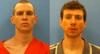 From the left, Michael Anthony Netherton, Cody Lynn McCaulou (Franklin County Jail)