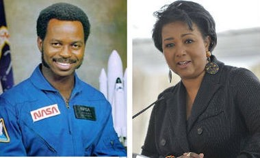 Astronauts Ronald McNair, left, the second African-American in space, and Mae Carol Jemison, the first black woman in space, are the namesakes of north Huntsville's two new schools. McNair was killed in the 1986 Space Shuttle Challenger disaster; Jemison is a Decatur native. (NASA/AL.com file photo)