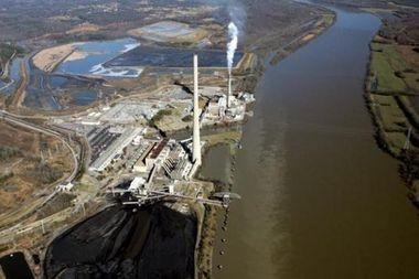 TVA's Widow's Creek plant between Stevenson and Bridgeport