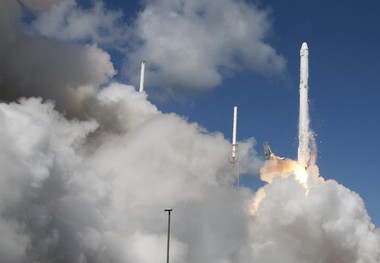 The SpaceX Falcon 9 rocket and Dragon spacecraft lifts off from Space Launch Complex 40 at the Cape Canaveral Air Force Station in Cape Canaveral, Fla.,June 28, 2015. The rocket carrying supplies to the International Space Station broke apart shortly after liftoff. On April 14, 2015, centenarian Mercedes Fox, who dreams of going into space, came to watch the launch as her 100th birthday celebration -- and was invited to come to Space Camp in Huntsville, Ala., where she joined teachers at a NASA workshop July 9-12, 2015. (AP Photo/John Raoux)