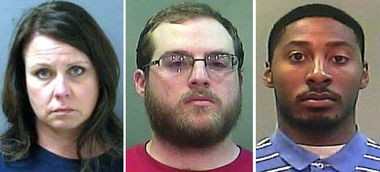 Carrie Witt, from left, Trey Stinson and Devin Robinson (Decatur PD/Limestone County Sheriff's Office)