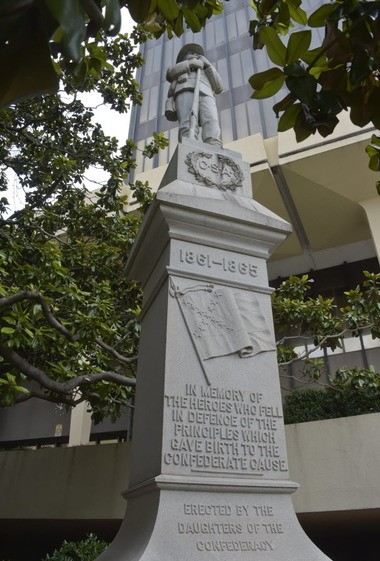 Confederate monument located at the Madison County Courthouse erected in 1905. (Bob Gathany/bgathany@AL.com)