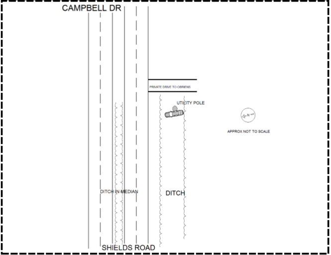 This diagram is included in a Huntsville police crash report of the wreck that killed Ashley Diane White in 2016.