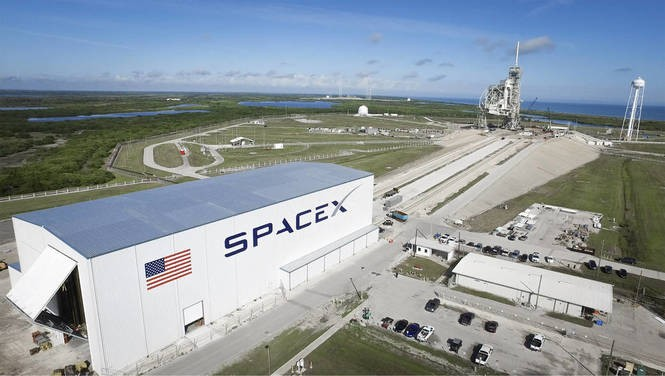 The SpaceX launch site at NASA's Kennedy Space Center. (SpaceX)