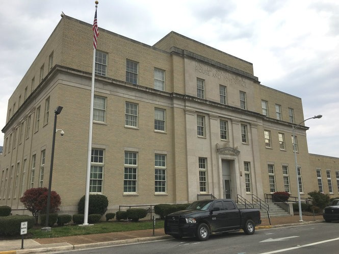 The existing federal courthouse building in Huntsville sits at the corner of Jefferson Street and Holmes Avenue across the street from The Avenue residential and retail complex. The old courthouse built in 1936 will be replaced by a new courthouse further south in the downtown area. (Lee Roop/lroop@al.com)