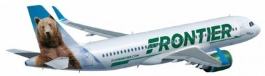 Rendering of the Frontier Airlines Airbus A320 jet that will operate out of Huntsville International Airport beginning in October. (FlyFrontier.com)