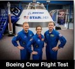 The crew of Boeing's first Starliner space capsule are, from left, NASA astronauts Eric Boe and Nicole Mann and Boeing astronaut Chris Ferguson. (NASA photo)
