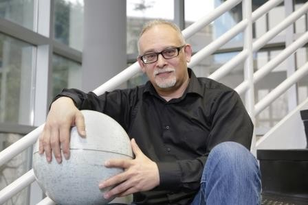 Dr. Richard Miller of the University of Alabama in Huntsville, is one of the scientists proposing a new theory that the moon flopped over on its side some 3.5 billion years ago. (Michael Mercier/University of Alabama in Huntsville)