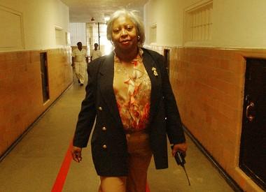 Warden Gladys Deese walks the halls at Julia Tutwiler Prison for Women in Wetumpka in 2003.