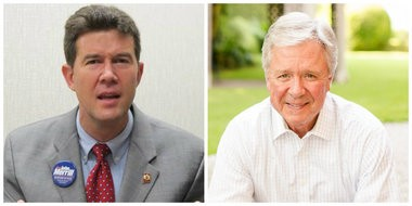 John Merrill, left, defeated Reese McKinney in today's runoff for the Republican nomination for secretary of state.
