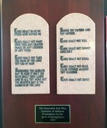 A copy of the Ten Commandments on display in the Capitol.