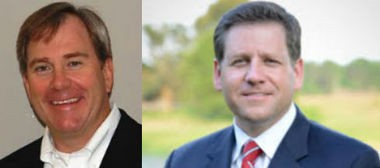 Different takes: State Rep. Craig Ford, left, criticized a school choice study, calling it a mistake to take money away from public eduction. State Rep. Chad Fincher, right, found affirmation in the report from Troy University's Johnson Center for Political Economy.