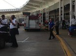 Birmingham firefighters at Shuttlesworth International Airport after someone showed 'signs of symptoms of Ebola.' (Sarah McCarty)