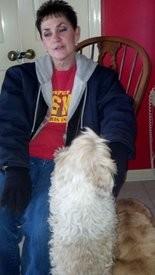 Neighbor Denise Brown with two of Klonowski's dogs (cstephens@al.com)