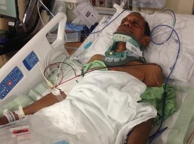 Sureshbhai Patel, 57, at Huntsville Hospital (Special to Al.com)
