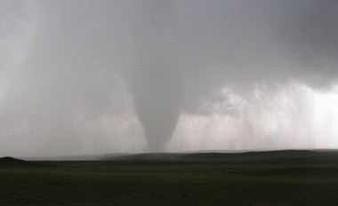 Vortex2 documented the entire life cycle of a tornado from beginning to end for the first time. The tornado, intercepted in LaGrange, Wyo., on June 5, 2009, is now the most intensely examined tornado in history. (NSSL)