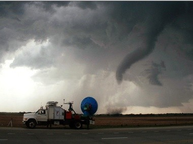 The Vortex2 project focused on the Great Plains and was almost entirely mobile. Vortex-Southeast will be different because chasing Southern storms is so challenging because of the terrain. (NSSL)