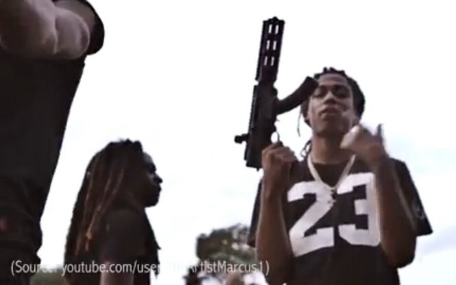 A YouTube video featuring Selmont-area DTE gang members bearing heavy weaponry was produced by a Montgomery producer hired by DTE, according to Michael Jackson, district attorney for Alabama's 4th Judicial Circuit. (Youtube/TheArtistMarcus1)