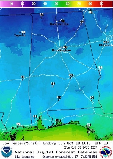 Tonight could be one of the coldest so far this fall. (National Weather Service)