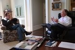 Alabama Governor Robert Bentley sits down for an interview with Chuck Dean of AL.com, in the private residence at the Governor's Mansion in Montgomery, to review the events of 2015 and the Governor's plans for 2016. Tuesday, December 15, 2015. (Governor's Office, Daniel Sparkman)