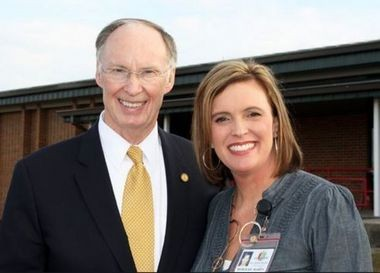 Gov. Robert Bentley and adviser Rebekah Mason