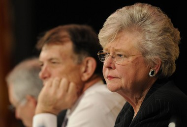 Kay Ivey listens to speakers at a public hearing on the PACT program, the state's prepaid college tuition program, in May 2009. (Birmingham News file photo   Bernard Troncale)