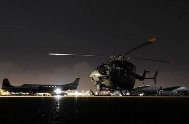 A National Guard UH-72 Lakota helicopter prepares to fly in support of Customs and Border Protection-led Operation Phalanx. (Contributed photo/Sgt. 1st Class Malcolm McClendon)